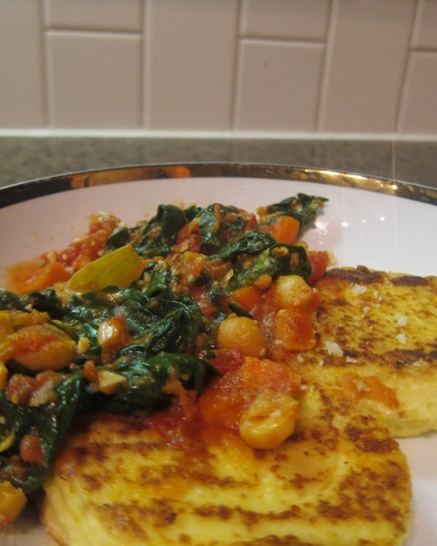 basil pan seared polenta with spicy tomato basil sauce this photo pan ...