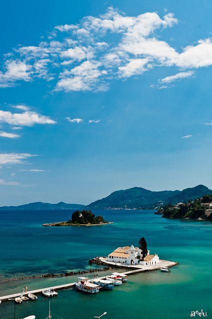 """Pontikonisi"", which literally translates into ""mouse isle"", at Kerkyra Island or Corfu, if you prefer."