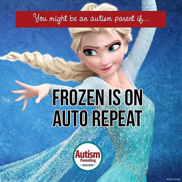 "You might be an autism parent if... 'Frozen is on auto repeat.' Get a FREE issue of Autism Parenting Magazine Just follow us on Instagram: @AutismParentingMagazine Turn on ""Post Notifications"" so you don't miss out on the contents we're sharing. Link on our profile"