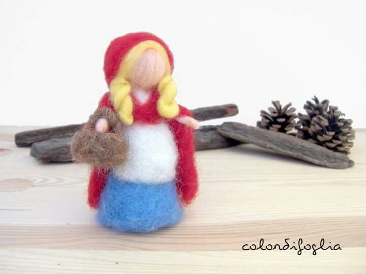 Needle Felted Little  Red Riding Hood