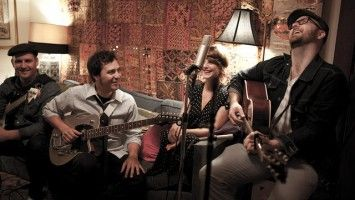 Running Red Lights – a Toronto-based modern-folk-pop band formed in 2006. It's taken them a while to find the sound that they now seem to have settled comfortably into. But it is harmonious, honest and pure and their lyrics are beautifully crafted phrases of story-telling poetry.