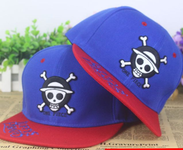 fd0d2dfa45379 One Piece Skull Jolly Roger Luffy Pirates Embroidery Hip Hop Hat Cap  Snapback