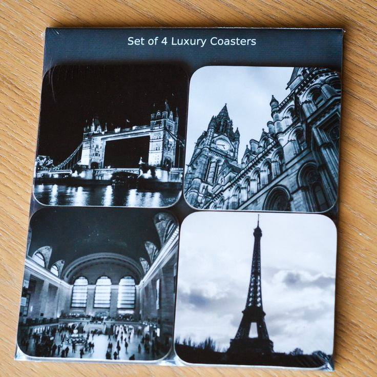 EmmyCPhotography: Coaster Gift Set - 4 Travel Photography Coasters - Manchester, Paris, London, New York - Tableware, Homeware on Etsy https://www.etsy.com/uk/listing/253591731/coaster-gift-set-4-travel-photography #coasters #cities