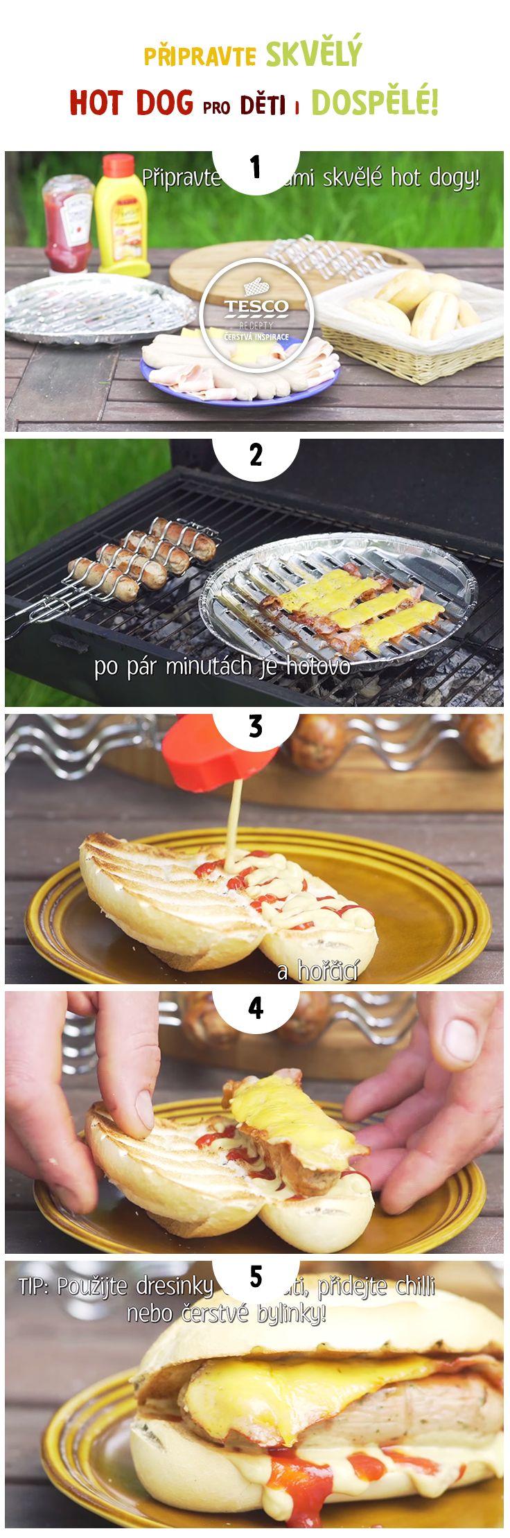 Připravte skvělý hot dog pro děti i dospělé!