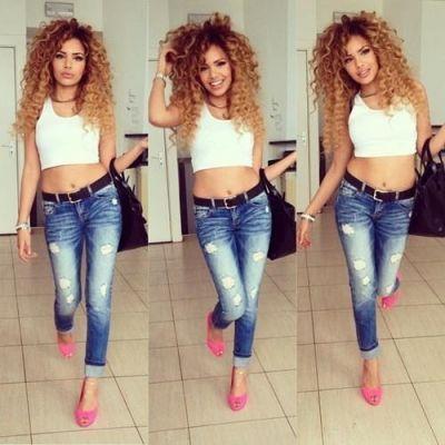 Love the hair! Nice curly blonde hair