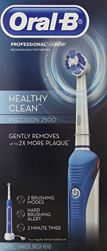 Oral-B Professional Healthy Clean Precision 2500 Rechargeable Electric Toothbrush 1 Count
