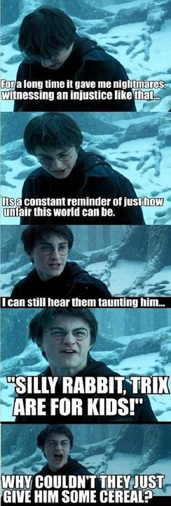HE WAS THEIR FRIEND: Silly Rabbit, For Kids, Harrypotter, Funny Stuff, Harry Potter, Funnies, Humor, Poor Rabbit