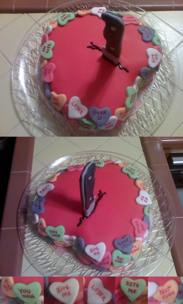 anti valentine's day cake