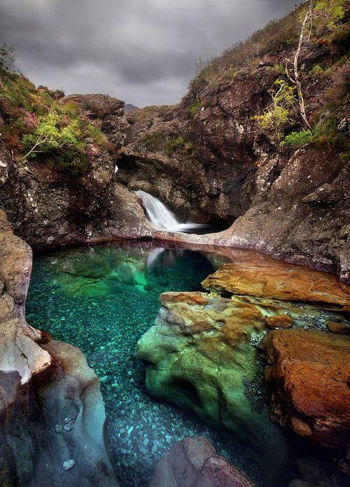 Crystal Clear, Fairy Pool, Scotland photo via cindy