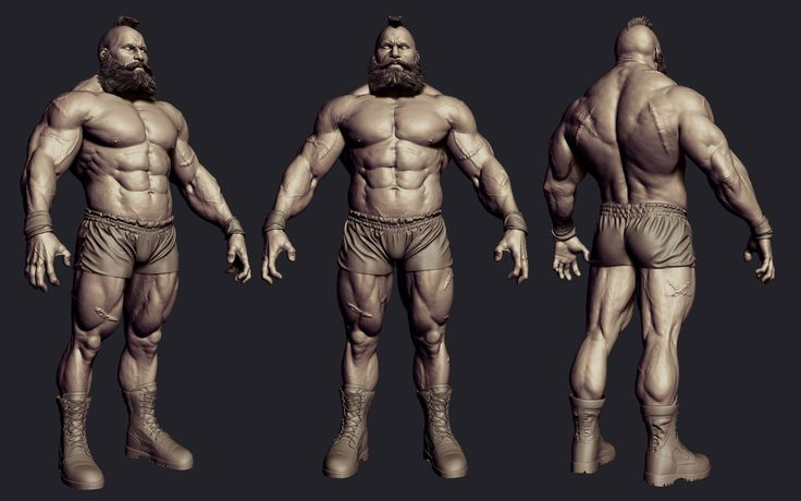 Zangief wip, Caio Fantini on ArtStation at…
