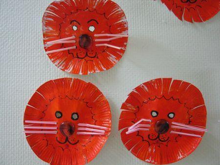 Masques de lions - Le tour de ma classe