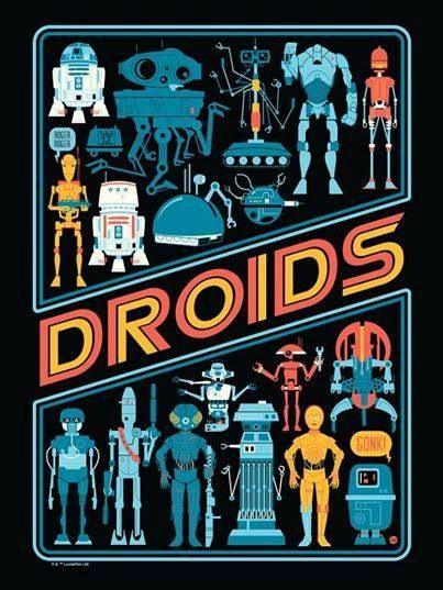 Star Wars Droids Art. #starwars #2D