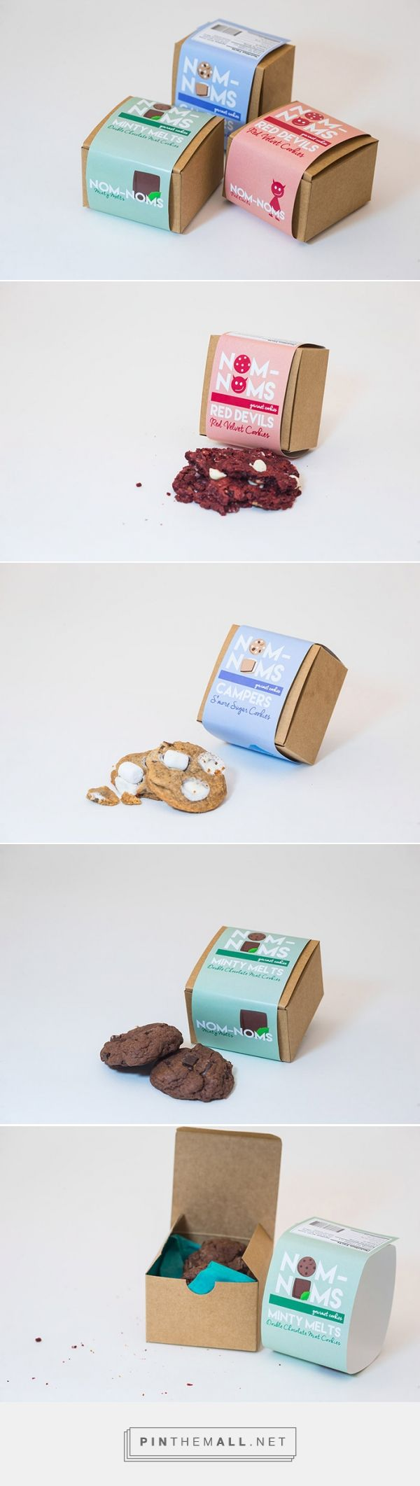 NOM-NOMS Cookies by Elsie How. Pin curated by #SFields99 #packaging #design
