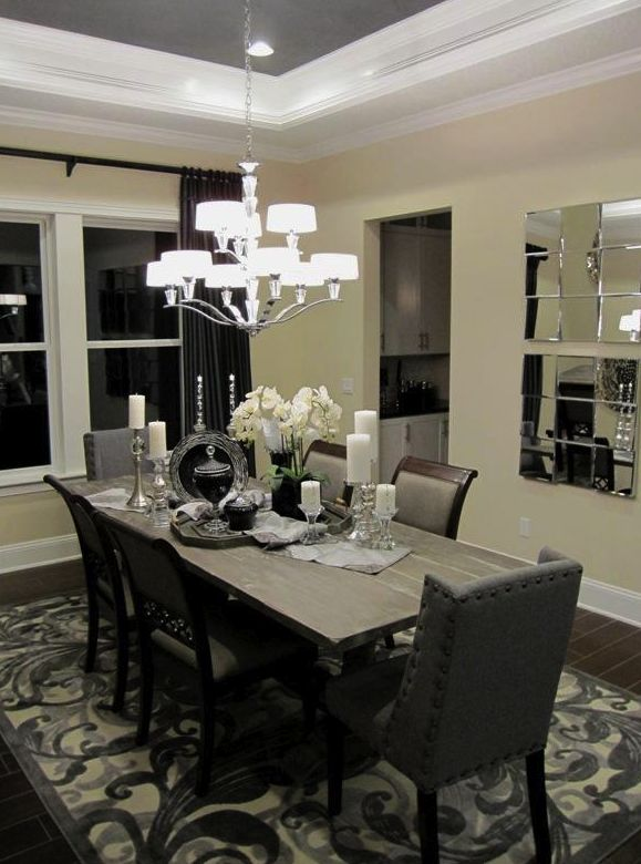 20 best the monroe model home at nocatee images on for Model home dining room