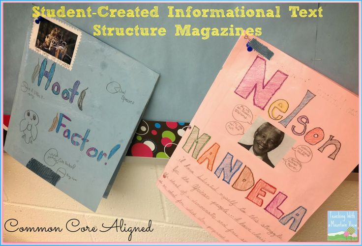 Nonfiction Text Structures & Features Cumulative Assignment!  Students create their own magazines about a topic, using all of the different text structures and features.