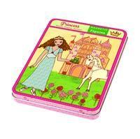 Magnetfigurer i æske med prinsesser. Baggrunde med slotte, hvide heste mm og masser af magneter med tilbehør til prinsesserne. Perfekt underholdning til rejsen/ferien. Alt er magnetisk. Mudpuppy