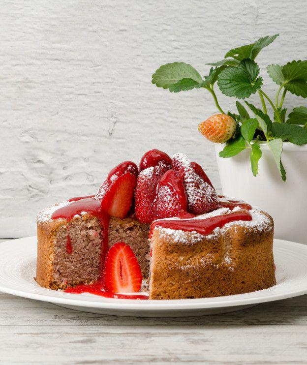 Εύκολο κέικ φράουλας