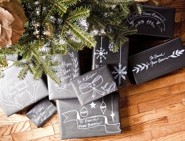 awesome christmas chalkboard packaging from @goinghometoroost