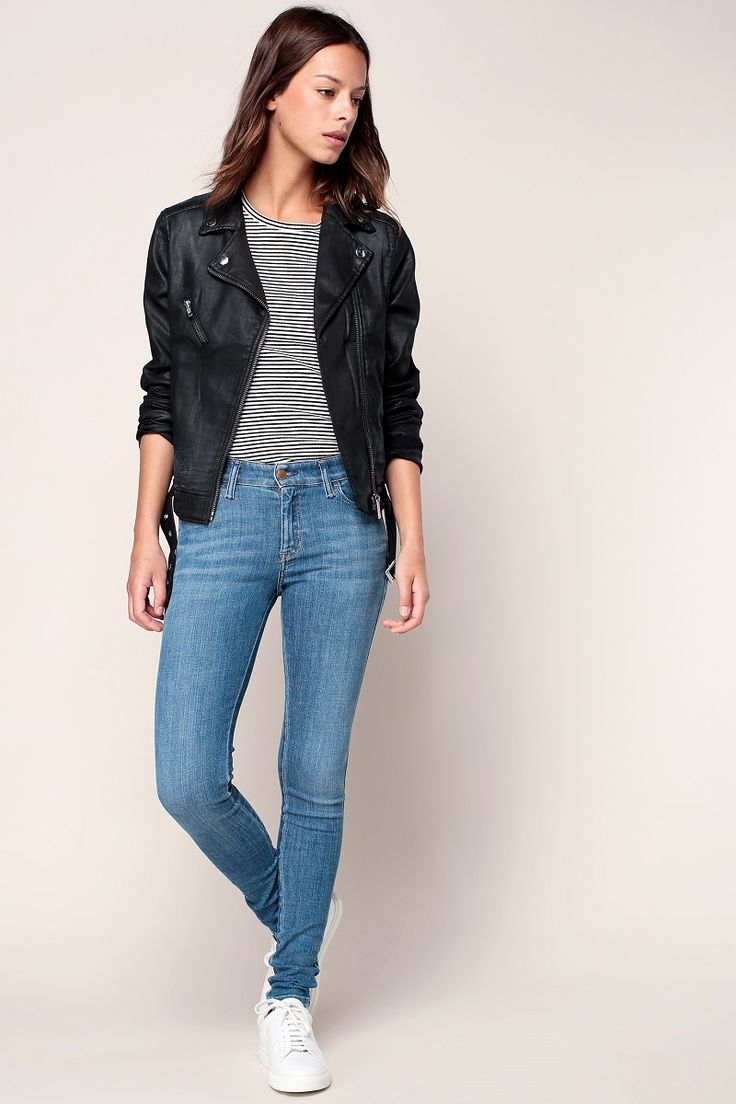 Diesel Slandy Jean super skinny regular waist bleu clair - Monshowroom