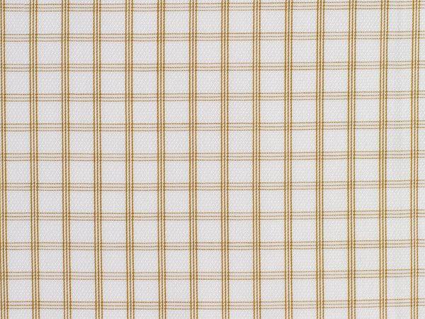 Tan and Satin White Glen Checked Cotton