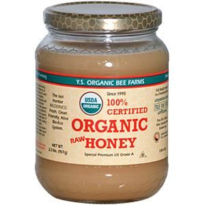 organic raw honey...if you order from iHerb, feel free to use my code...GEJ055...will give you a discount on first order.