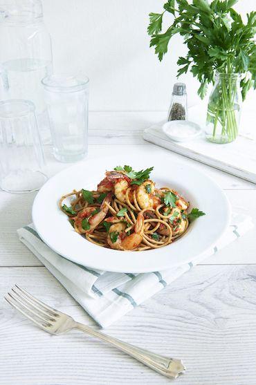 Spaghetti Prawn Marinara | The Healthy Mummy