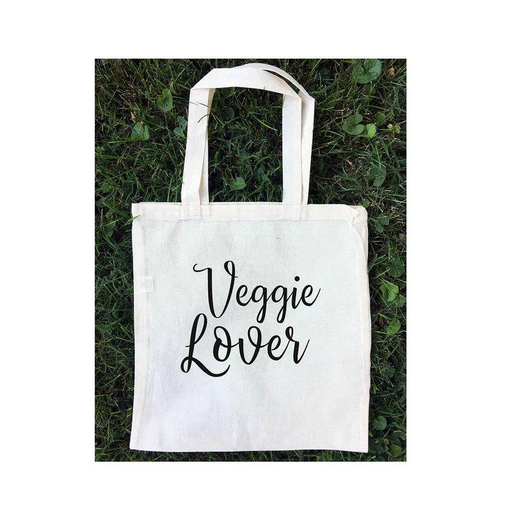 Veggie Lover / Farmer's Market Tote Bag / Cotton Eco Friendly Bag / Reusable Grocery Bag / Lunch Bag / Book Bag / School Bag / 100% Cotton by clairdeluneUSA on Etsy