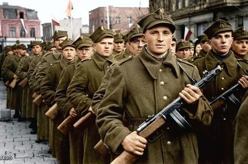 Polish soldiers. Grodno 1945