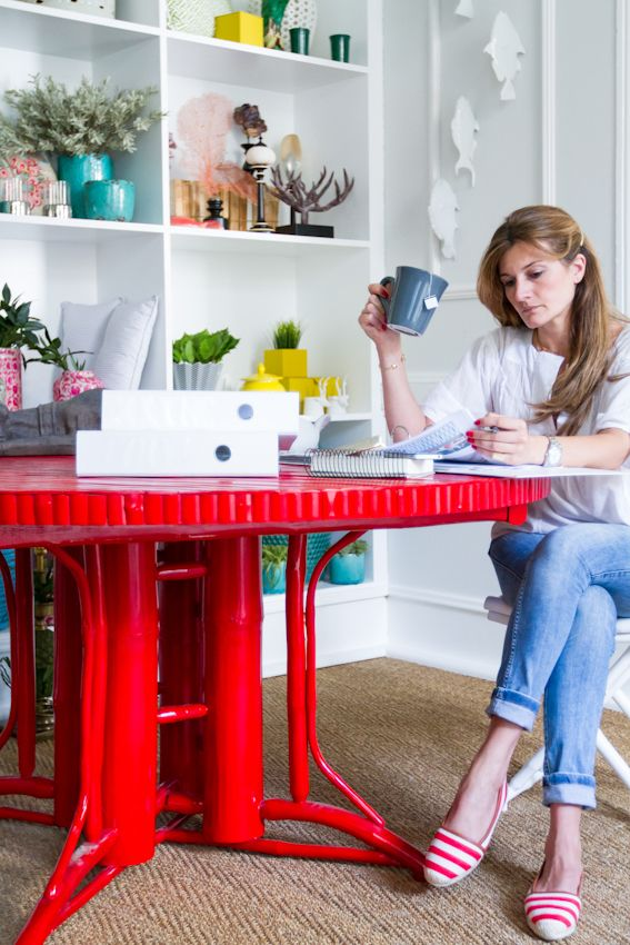 www.catherinecabral.com #interiordesign #homedecor #lifestyle #living #myoffice #interiordesign #decor #mywork #catherinecabralinteriores #red