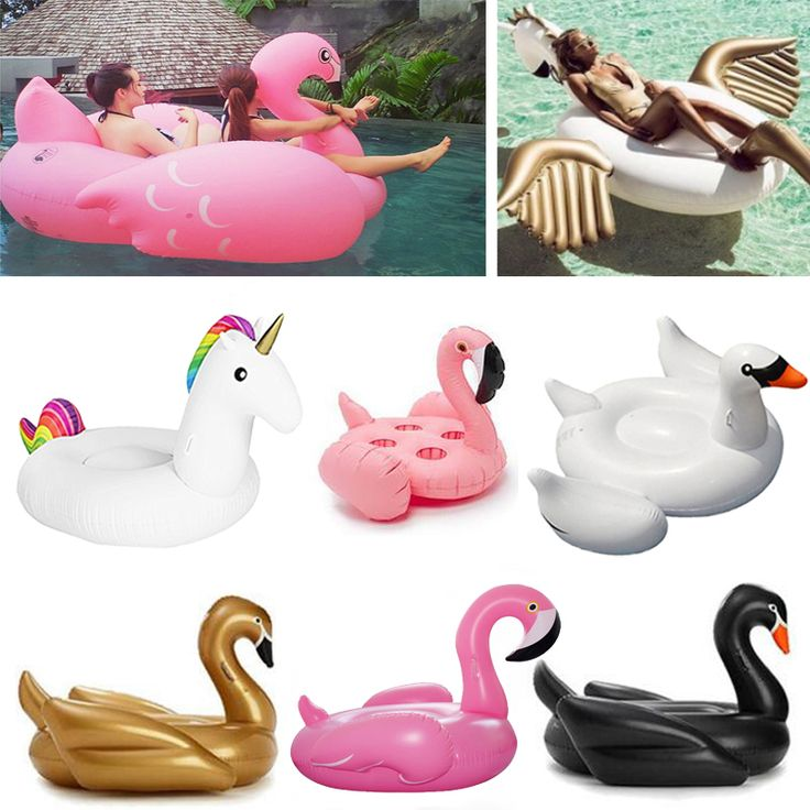 Giant Inflatable flamingo Pool float inflatable unicorn adult Swimming ring inflatable Swan donut Water Pool Toys DHL Free