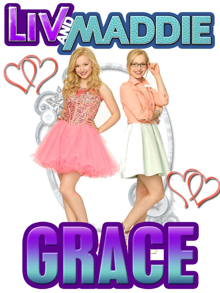Personalized Custom NAME T-shirt Disney Show Liv and Maddie