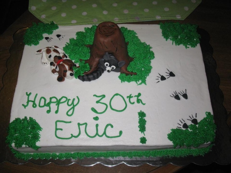 Coon Hunters Birthday Cake
