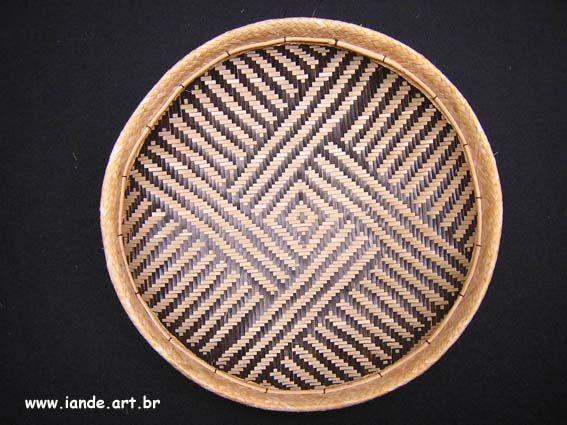 Peça: Cesto Balaio Nome indígena: Bahtiaka Material: Arumã Feito por índios: Tukano Local: noroeste do Amazonas