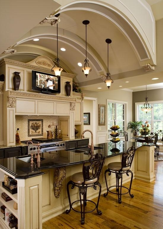 9 best images about vaulted ceiling lights on pinterest for House plans with large kitchen and family room