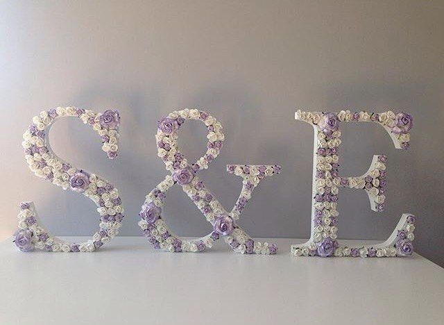 "Floral Letter Flower Letter Wedding Decor Lilac (@craftyweecat) on Instagram: ""Its #weddingwednesday  would you love some flower letters as decoration for your top table, cake…"""