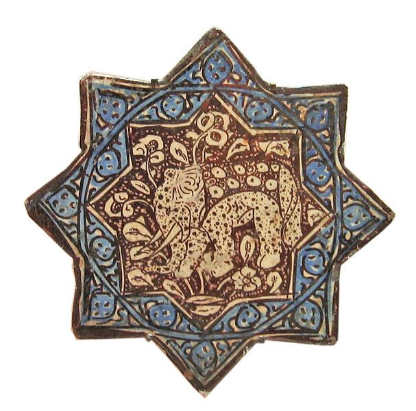 star tilewith elephant.late 12th century.İran