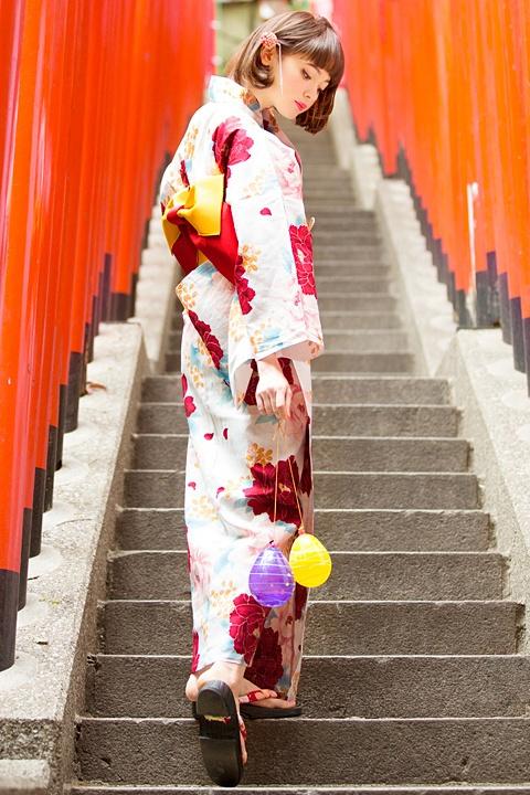 INGNI(イング)萩牡丹/浴衣