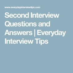 second interview questions to ask