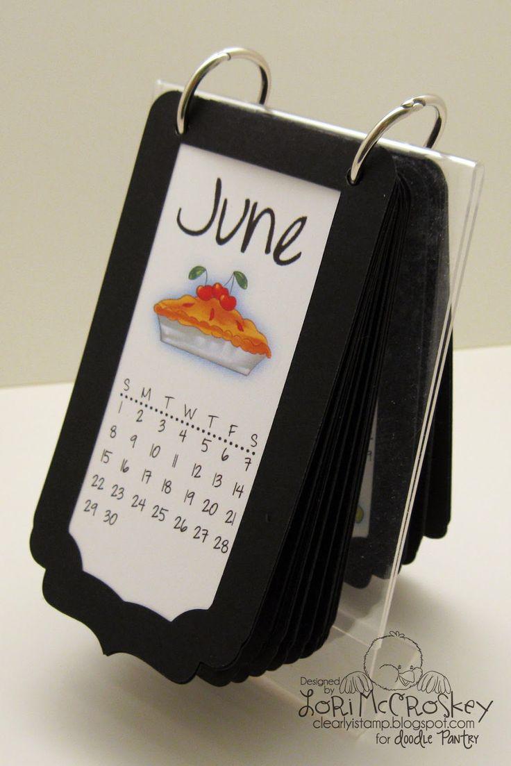 Make your own flip calendar with Mini Calendar/Flip Calendar SVG cutting file!