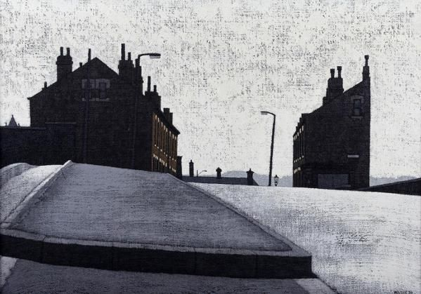 """West Riding Terraced Houses""..1973. By Yorkshire born, Stuart Walton #Gritty"
