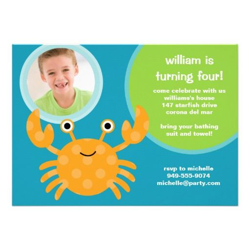 374 best images about Ocean Birthday Party Invitations – Ocean Party Invitations