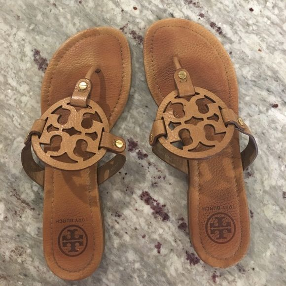 Tory Burch Miller sandal Tan Tory Burch Miller sandals. Leather. Good condition. Some wear on sole. Tory Burch Shoes Sandals