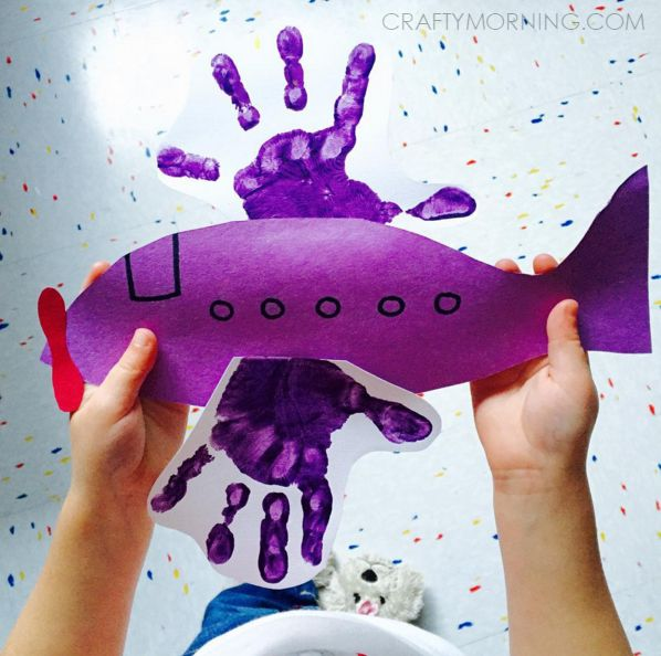 Footprint/Handprint Transportation Crafts for Kids - Crafty Morning