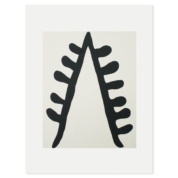 Black Stem' a black and off white abstract by littleprintpress, £38.00 Emma Lawrenson