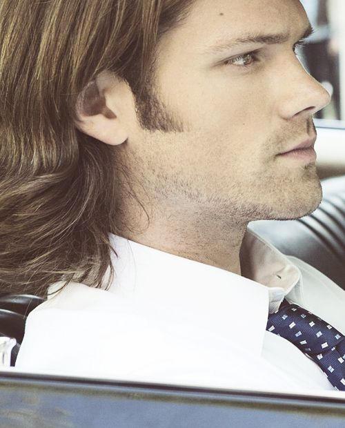 """Sam. Winchester. I know I've said it over and over, but: """"snip. snip snip...."""", aaahhh his hair is far too long<-------------- HOW DARE YOU INSULT MY BABY MOOSE!!!!!!!!"""