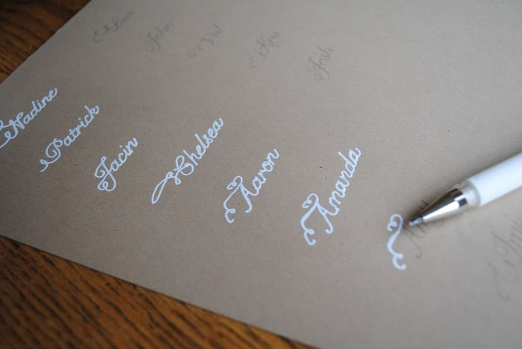 Faux calligraphy how to diy the trick is use a very