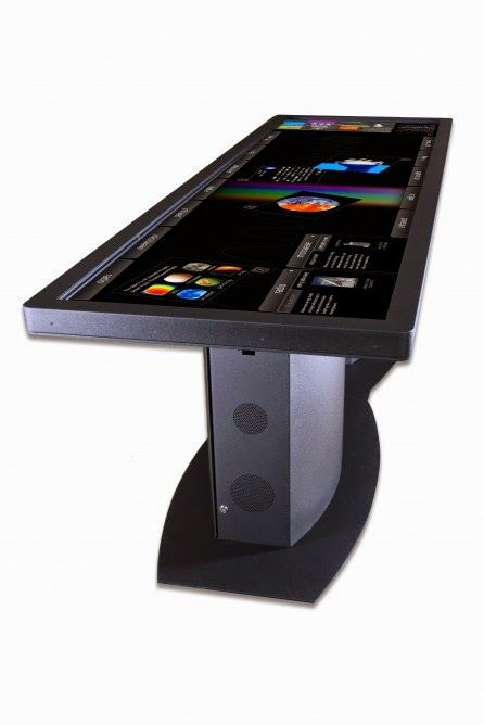 100-Inch Touchscreen Desk for the computer room.