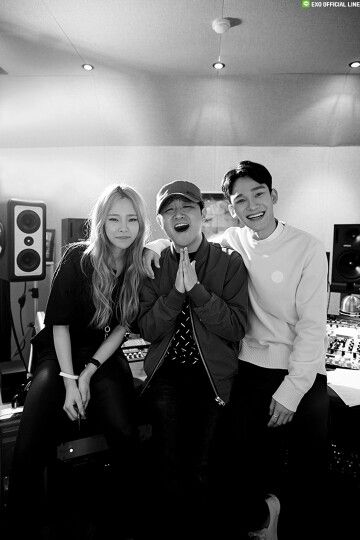 """SM STATION's new song """"Lil' Something"""" sung by EXO's CHEN and rapper Heize, produced by Vibe's Jae Hyun Ryu will be released on April 8th at 0AM (KST)! Please look forward to SM STATION's new song :)"""