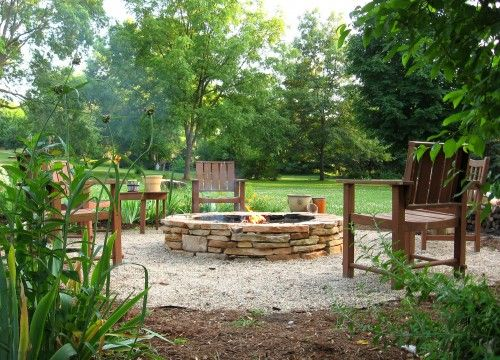 firepit: Fire Pits Design, Stones Fire Pits, Stacking Stones, Outdoor Fire Pits, Fire Pits Area, Backyard Fire Pits, Firepits, Gardens Crafts, Landscape