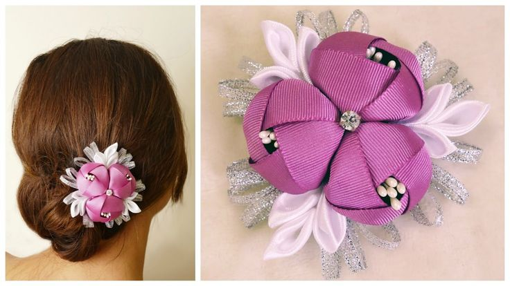 DIY ribbon roses I Kanzashi flower tutorial